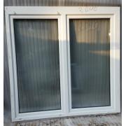 Окно б/у ПВХ двустворчатое 172х166 см, поворотно-откидное левое / поворотно-откидное правое